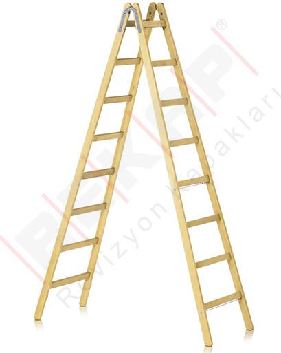Ahsap seyyar merdiven 7 basamakli